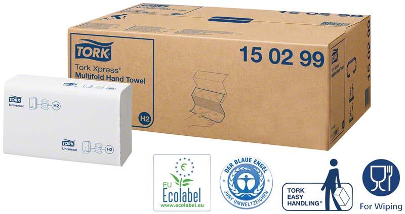 TORK® Xpress® Multifold (Interfold) Handtücher H2 System