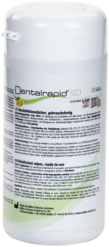 Dentalrapid® SD wipes