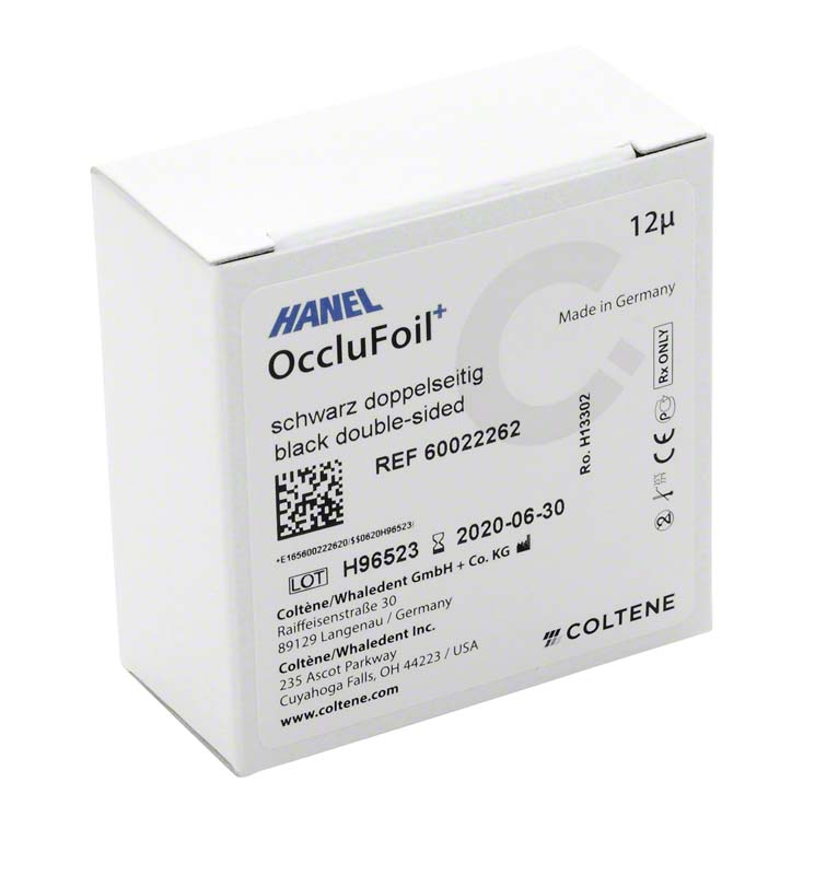 HANEL OccluFoil+, doppelseitig 12µ