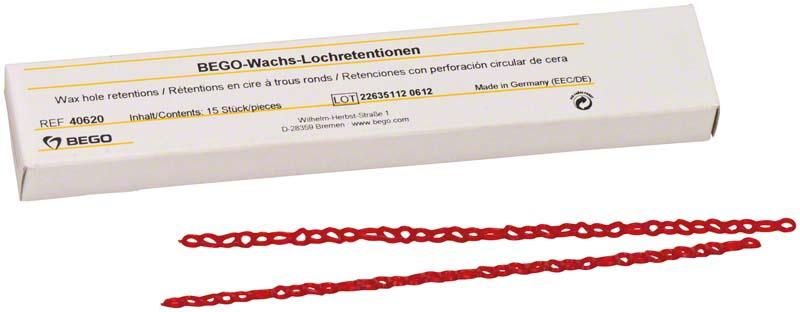 Wachs-Lochretentionen