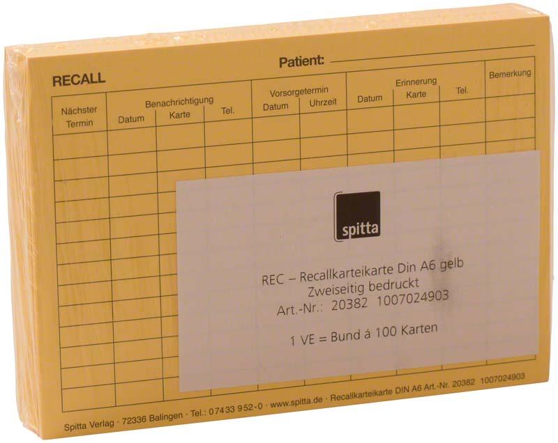 REC Recallkarteikarte