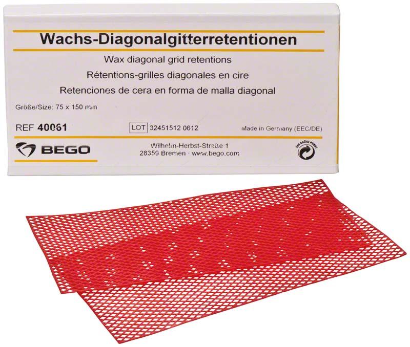 Wachs-Diagonalgitterretentionen
